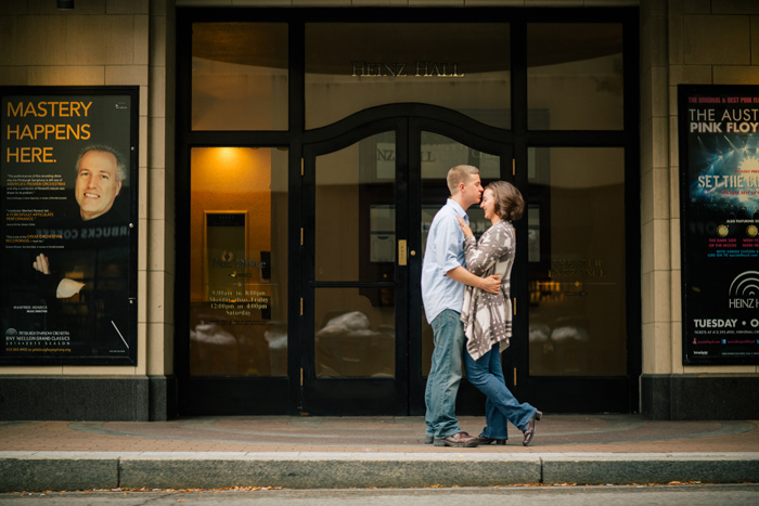 downtown pittsburgh engagement photo