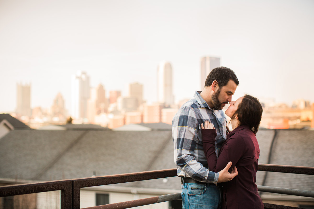 south side engagement photo