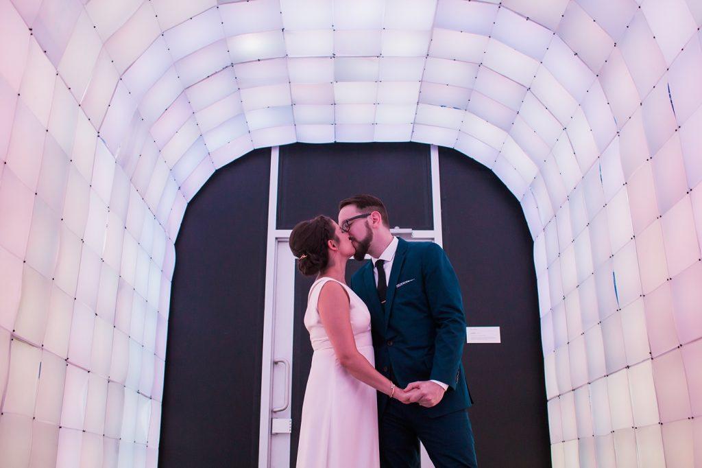 mattress factory wedding photo